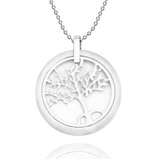 Кулон Дерево життя з білою керамічною вставкою