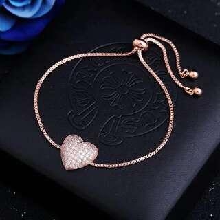 Позолочений браслет Серце з кубічним цирконієм