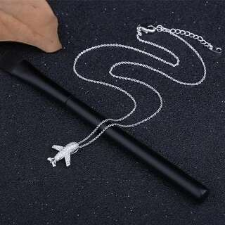 Ланцюжок з підвіскою білий літачок