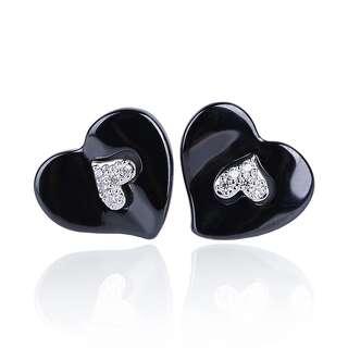 Керамічні сережки Серце