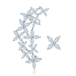 Асимметричные серьги-кафф цветы