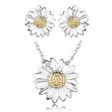 Срібний комплект ромашка Tiffany