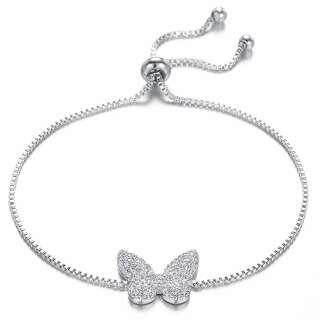 Белый браслет бабочка