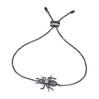 Браслет муравей с синим цирконием