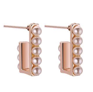 Серьги в стиле Dior с жемчужными рядами