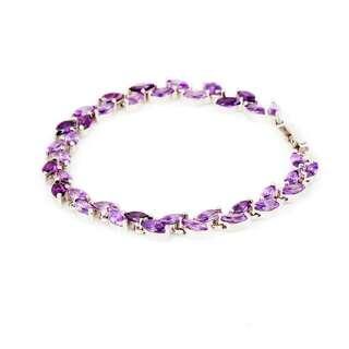 Браслет с фиолетовыми цирконами