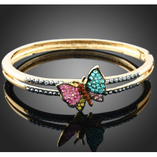 Браслет бабочка с кристаллами Swarovski