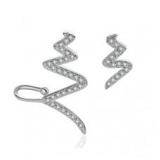 Срібні сережки асиметрия зигзаг