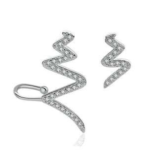 Серебряные серьги асимметрия зигзаг