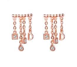 Позолочені срібні сережки із колекції Dior by Dior