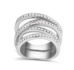 Кольцо реплика de GRISOGONO в белой позолоте