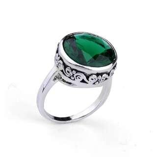 Кольцо с зеленым Swarovski