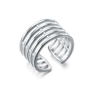 Открытое серебряное кольцо без камней
