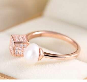 Серебряное открытое кольцо Dior