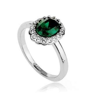 Кольцо с изумрудным камнем