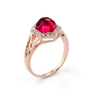 Кольцо с розовым камнем Swarovski