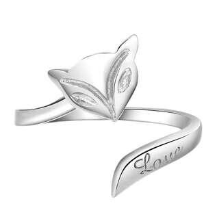 Серебряное кольцо Лиса
