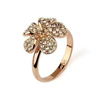 Кольцо цветок Swarovski