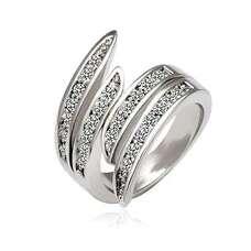 Кольцо с прозрачными кристаллами Swarovski