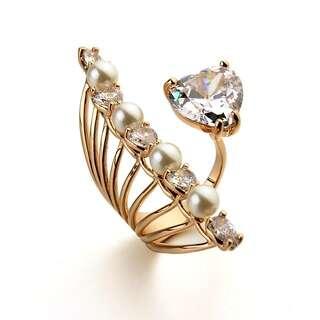 Открытое кольцо Dior с желтой позолоте