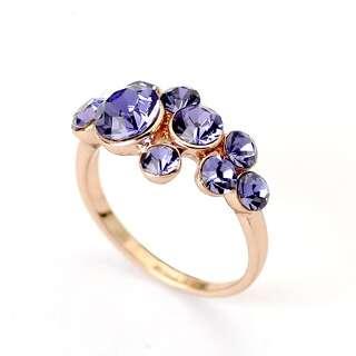 Кольцо с фиолетовыми Swarovski