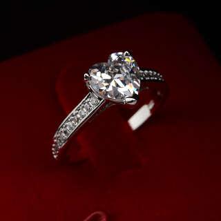 Кольцо Хрустальное сердце с кристаллами Swarovski