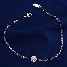 Белый браслет реплика Cartier