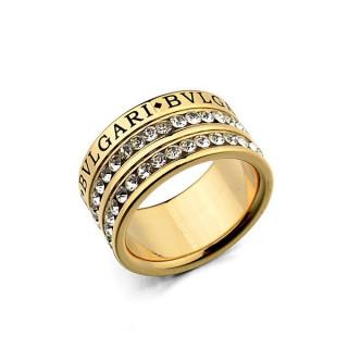 Широкое кольцо в лимонной позолоте с гравировкой