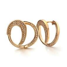Позолоченные серьги завиток копия Dior