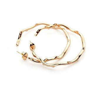 Желтые серьги-кольца Dior Bois de Rose (шипы роз)