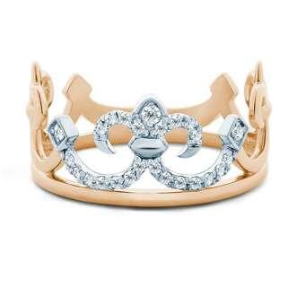 Серебряное кольцо корона с золотом