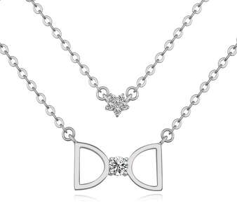 Двойная цепочка с кулоном Dior