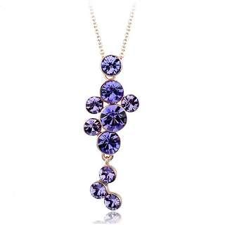 Кулон с фиолетовыми камнями Swarovski