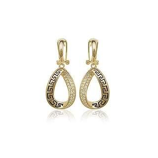 Серьги в стиле Versace с камнями Swarovski