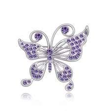 Брошь фиолетовая Бабочка