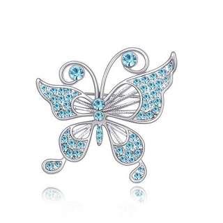 Брошь голубая Бабочка