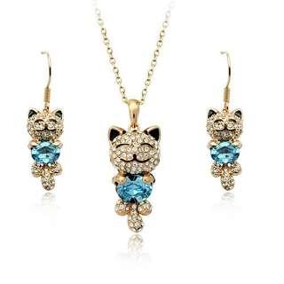Набор Кошки с камнями Сваровски