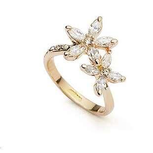 Кольцо Хрустальный цветок