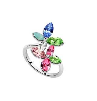 Кольцо Радужный цветок