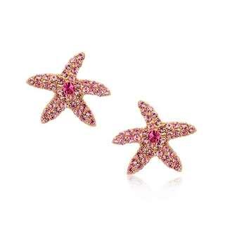 Серьги Морские звёзды
