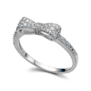 Серебряное кольцо бант Pandora