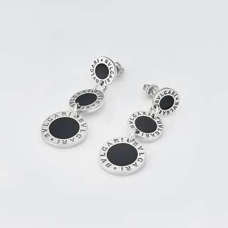 Срібні сережки Bvlgari