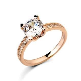 Позолоченное кольцо с Swarovski