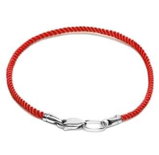 Срібний браслет червона нитка