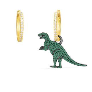 Позолоченные серьги кольца с подвеской в виде динозава