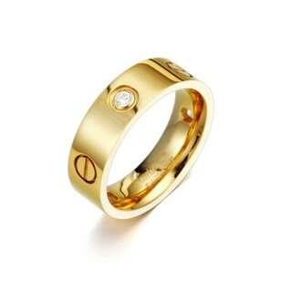 Кольцо копия Cartier Love в лимонной позолоте