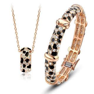 Леопардовый комплект с Сваровски