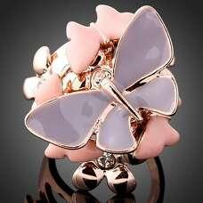 Крупное кольцо с бабочками