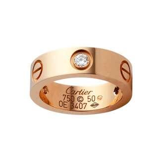 Кольцо влюбленных в розовой позолоте