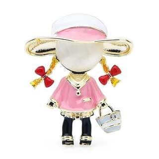 Брошь Маленькая Леди в розовом